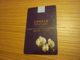 Macao Macau Cotai Central Conrad Hotel Room Key Card (orchid) - Cartes D'hotel