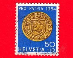 SVIZZERA - HELVETIA - Usato - 1964 - Pro Patria - Moneta - Fiorino D'oro, Berna - 50+10 - Pro Patria