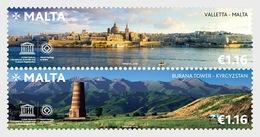 Malta - Kyrgyzstan Joint Stamp Issue - Set Mnh - Malta