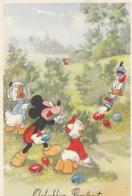 Gelukkig Paasfeest. Micky Mouse, Donald, Trick Etc. Im Gebüsch, Um 1955 - Comicfiguren