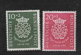 Deutschland BRD ** 121-122 Bach Katalog 130,00 - [7] République Fédérale