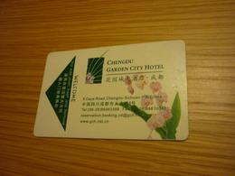 China Chengdu Garden City Hotel Room Key Card (orchid) - Hotel Keycards