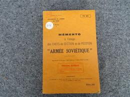"""TTA 803 - Mémento à L'usage Des Chefs De Section Et De Peloton """"Armées Soviétique"""" - Books, Magazines, Comics"""