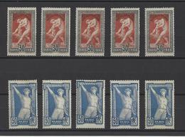 FRANCE  YT  N° 185 Et 186   Neuf *  1924 - France