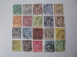 Frankreich  59,61-69,72,73,77-81,84  O - 1876-1878 Sage (Type I)