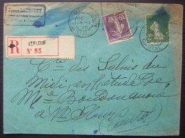 Saint Flour 1920 (Cantal) Lettre Recommandée N°85 - Marcophilie (Lettres)
