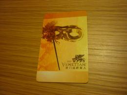 Macao Macau Taipa The Venetian Hotel & Casino Room Key Card - Cartes D'hotel