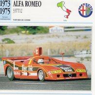 Alfa Romeo 33TT V12  (1973) - Voiture De Course  -  Fiche Technique/Carte De Collection - Le Mans
