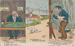 HUMOUR - Le Téléphone à Trifouille-Les-Oies - 1er Appel Allo ! - CP - VIERGE - - Humour