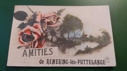 CPA REMERING LES PUTTELANGE 57 MOSELLE AMITIES DE  ROSES FLEURS PAYSAGE PASSE PARTOUT - Frankreich