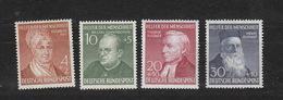 Deutschland BRD **  156-159 Wohlfahrt  1952, 158 I Geprüft , 159 Geprüft Katalog 120,00 - [7] République Fédérale