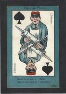 CPA Jeu De Cartes Carte à Jouer Militaria Clistère écrire - Cartes à Jouer