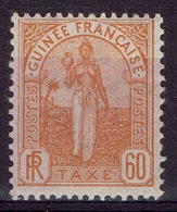 French Guinea, Fulah Woman, 60c., Postage Due, 1905, MH VF - Unused Stamps