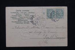 FRANCE - Affranchissement Type Blanc Avec Millésime Sur Carte Postale En 1905 - L 21335 - Marcophilie (Lettres)