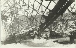 Chênée -- Carte Photo - Dégats Du V1 Sur Les Usines Cuivre Et Zinc (27/12/1944) (2 Scans) - Liege