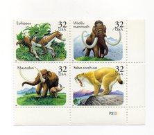 Stati Uniti - 1996 - Foglietto Tematica Animali Preistorici - 4 Valori - Nuovo - Vedi Foto - (FDC13780) - Francobolli