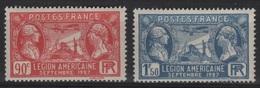FR 1017 - FRANCE N° 244/45 Neufs** Légion Américaine - France