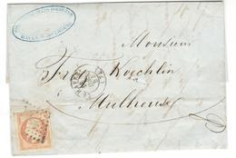 12894 - TARIF  40 C POUR L ALSACE - Marcophilie (Lettres)