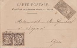Timbres Taxe 10c Et Timbre Quittances 10c (LOT A7) - Marcophilie (Lettres)