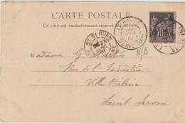 Cachet Le Havre Et Saint Servan Sur Type Sage 10c  (LOT A7) - Marcophilie (Lettres)