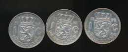 3 X 1 GULDEN 1964 , 1966 EN 1967  -   2 SCANS - [ 3] 1815-… : Kingdom Of The Netherlands