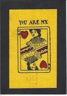 CPA Jeu De Cartes Carte à Jouer Playing Cards Circulé En Tissu Matière - Cartes à Jouer