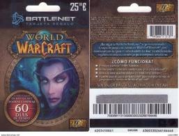 TARJETA REGALO DE ESPAÑA, GIFT CARD. WORLD OF WARCRAFT. 046. - Cartes Cadeaux