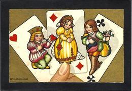 CPA Jeu De Cartes Carte à Jouer Playing Cards écrite Illustrateur Italien Italie - Cartes à Jouer