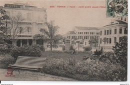 Tonkin-Hanoi-Jardin Public Devant L'Hôtel Métropole - Viêt-Nam