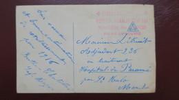Cachet Hôpital Auxiliaire N° 161 Ministere Des Finances Palais Du Louvre Sur CPA Fantaisie  1916 - Guerre De 1914-18