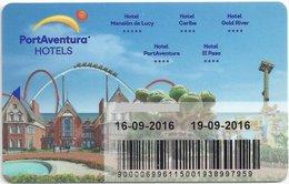 SPAGNA  KEY HOTEL PortAventura Hotels - Salou (Tarragona) - Hotel Keycards