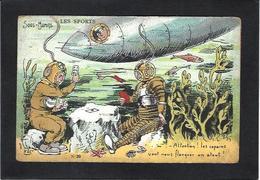 CPA Scaphandrier Scaphandre Sous Marin Submarine Jeu De Cartes Carte à Jouer Playing Cards Non Circulé - Cartes à Jouer