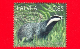 LETTONIA - LATVIJA - Usato - 2017 - Animali - Tasso - European Badger (Meles Meles) - 0.85 - Lettonie