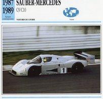 Sauber-Mercedes C9/C10  (1987) - Voiture De Course  -  Fiche Technique/Carte De Collection - Le Mans