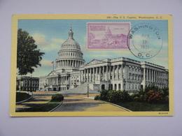 CARTE MAXIMUM CARD UNITED STATES CAPITOL WASHINGTON ETATS-UNIS - Maximum Cards