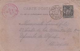 France Carte Postale Tour Eiffel Pour Le Mexique 1890 - Marcophilie (Lettres)