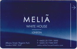 INGHILTERRA KEY HOTEL Meliá White House London - Level The Level - Cartes D'hotel