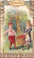 FRP-19-536 :  CHOCOLAT POULAIN. LA RECOLTE DES POMMES EN SEPTEMBRE. - Poulain