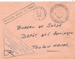 Lettre En Franchise Ecole Des Transfilistes Station Radio De La Crau - Marcophilie (Lettres)