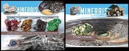 Sao Tome & Principe 2015, Minerals, Klb + S/s MNH - Minéraux