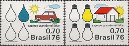 BRAZIL - COMPLETE SET ENERGY CONSERVATION 1976 - MNH - Sciences