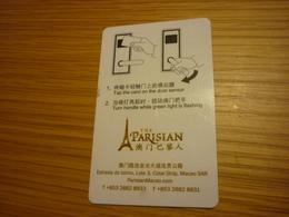 Macao Macau Cotai Strip The Parisian Hotel Room Key Card (Eiffel Tower Tour Eiffel Scout Sign) - Cartes D'hotel