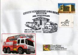 USA. Pompiers. (Volunteer Fire Dept.) Grahn Fire Station (Kentucky)  30 Ans De Service. - Firemen