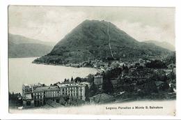 CPA - Carte Postale -Suisse - Tessin - Lugano Paradiso E Monte S. Salvatore-1909-  S4990 - TI Ticino