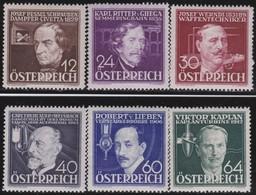 Osterreich      .   Yvert   .      489/494      .    **      .    Postfrisch    .   /  .     MNH - Ungebraucht