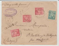 "GIRONDE: "" LIBOURNE "" / LSC CHARGEE De 1896 Pour St BARTHELEMY De BELLEGARDE TB - Marcophilie (Lettres)"