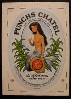 AUTOCOLLANT-PUNCHS CHATEL-ILE DE LA REUNION-AMUSANTE SIRENE-PIN UP - Alcools
