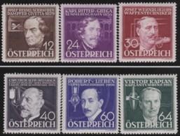 Osterreich      .   Yvert   .    489/494     .    **      .    Postfrisch    .   /  .     MNH - 1918-1945 1. Republik