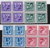 Osterreich      .   Yvert   .      485/488   Blocken       .    **      .    Postfrisch    .   /  .     MNH - 1918-1945 1. Republik
