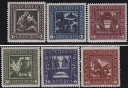 Osterreich      .   Yvert   .     368/373         .    **      .    Postfrisch    .   /  .     MNH - 1918-1945 1. Republik